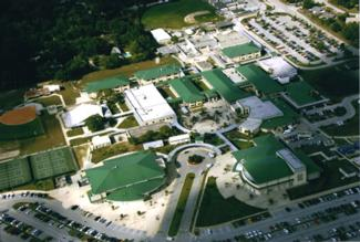 Aerial view of DeLand High