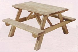 """48"""" Pint Sized Picnic Table -$65"""