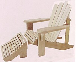 """""""Our Famous"""" Adirondack Chair w/Stool- $96"""
